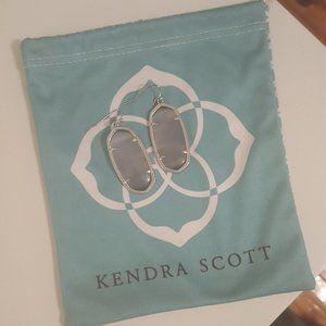 Kendra Scott Silver Drop Earrings